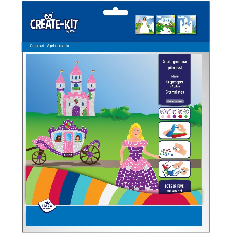 Kleurplaten Dora Als Prinses.Kleurplaat Prinses Met Crepepapier Verkrijbaar Bij Warenhuis Shop Nl